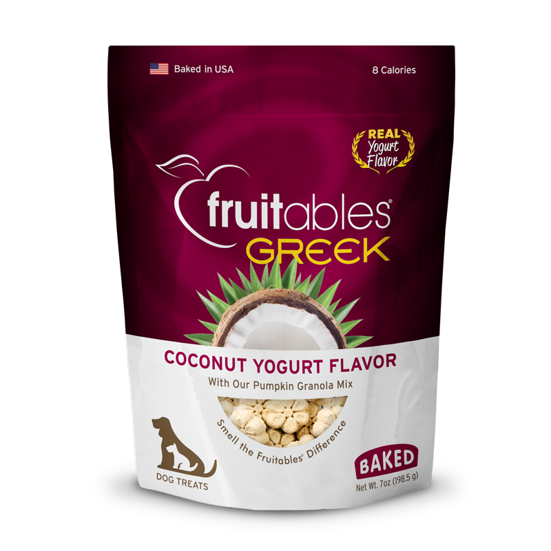 Fruitables Greek Yogurt Dog Treats - Coconut
