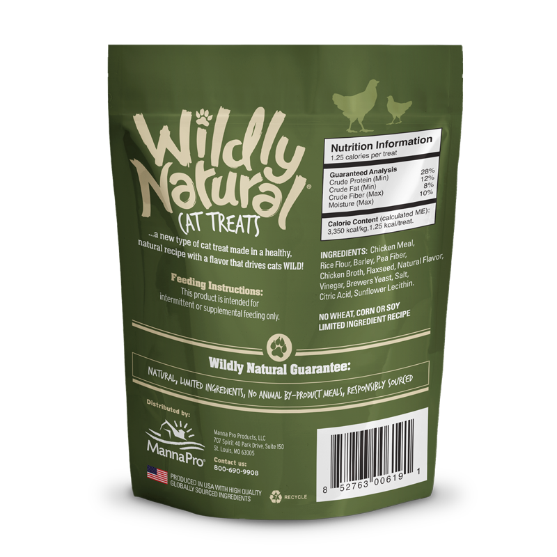 Wildly Natural Cat Treats Chicken Flavored