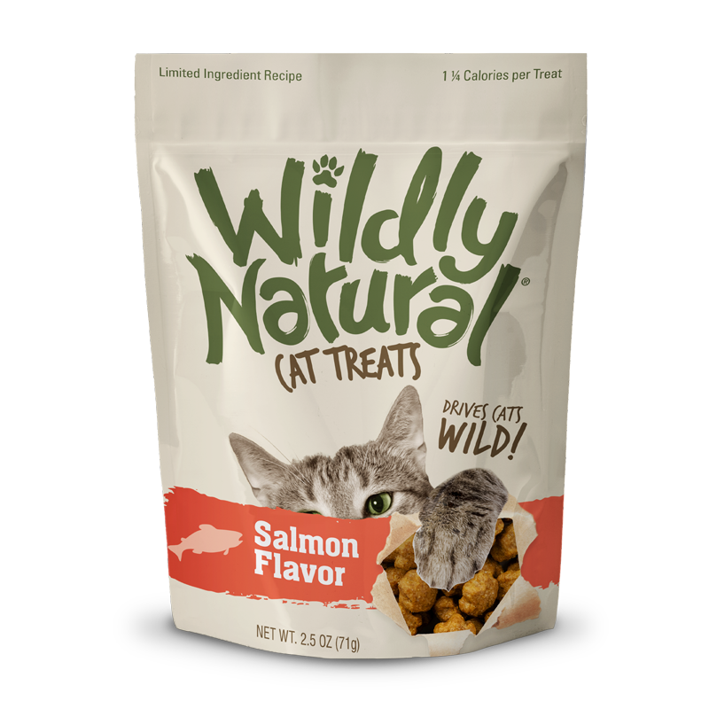 Wildly Natural Cat Treats Salmon Flavored