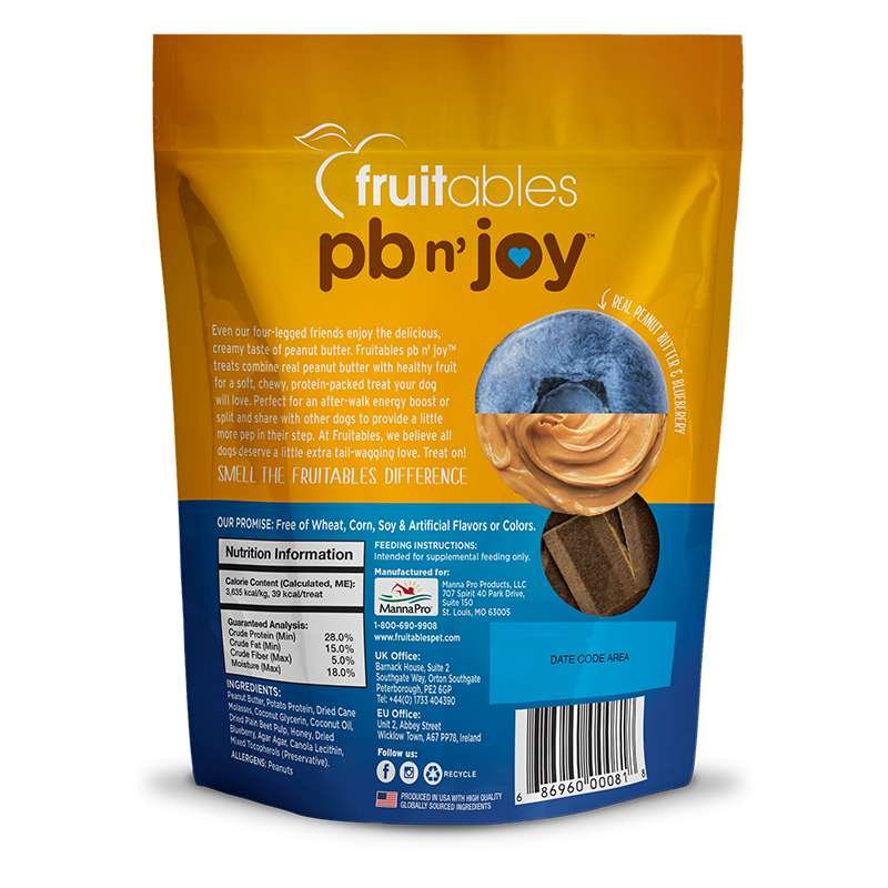 pb n' joy Peanut Butter & Blueberry Dog Treats